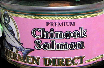 Canned Chinook Salmon
